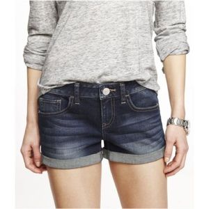 Express Mid-Rise Jean Shorts